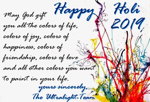 Ultralight AG Happy Holi wishes